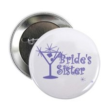 "Indigo C Martini Bride's Sister 2.25"" Button"