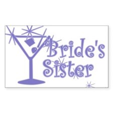 Indigo C Martini Bride's Sister Decal