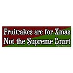 Fruitcake Supreme Court Sticker