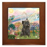 Cloud Angel 2 /Cairn Terrier Framed Tile