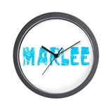 Marlee Faded (Blue) Wall Clock