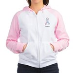 CDH Awareness Ribbon Women's Raglan Hoodie