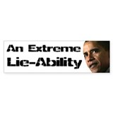 Obama Lie-Ability Bumper Sticker (50 pk)