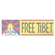 Free Tibet ! Bumper Car Sticker