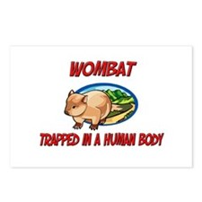 Wombat trapped in a human body Postcards (Package