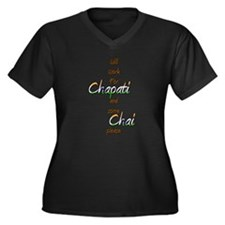 Unique India cricket Women's Plus Size V-Neck Dark T-Shirt