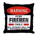 Firemen Throw Pillow