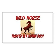 Wild Horse trapped in a human body Decal