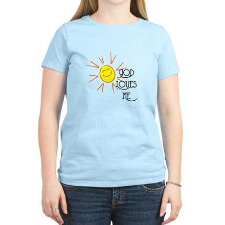 God Loves Me Women's Light T-Shirt