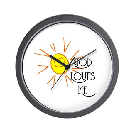 God Loves Me Wall Clock