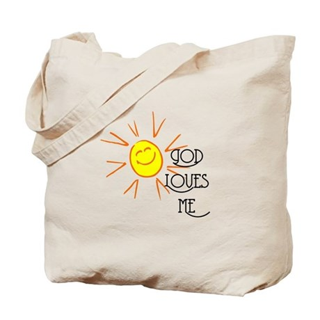God Loves Me Tote Bag
