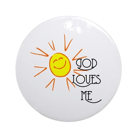 God Loves Me Ornament (Round)