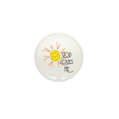 God Loves Me Mini Button (100 pack)