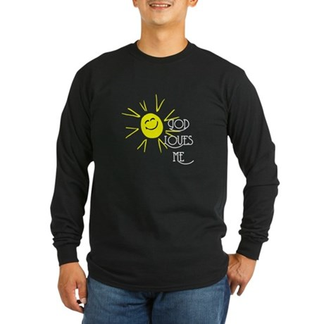 God Loves Me Long Sleeve Dark T-Shirt