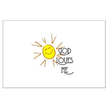God Loves Me Large Poster