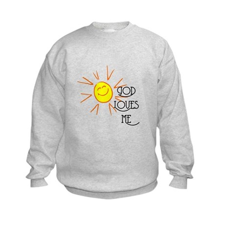 God Loves Me Kids Sweatshirt