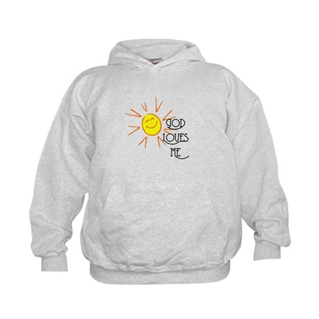 God Loves Me Kids Hoodie