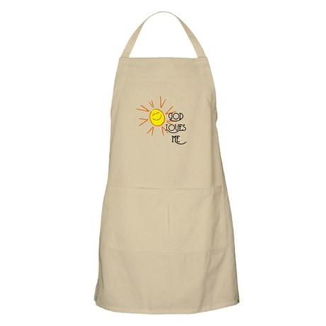 God Loves Me BBQ Apron