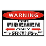 Firemen Rectangle Sticker