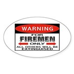 Firemen Oval Sticker