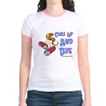 Curl Up And Dye Salon Jr. Ringer T-Shirt