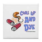 Curl Up And Dye Salon Tile Coaster