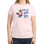 Curl Up And Dye Salon Women's Pink T-Shirt