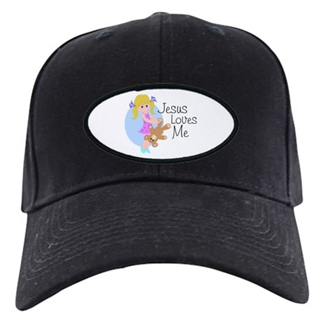 Jesus Loves Me Black Cap