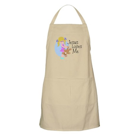 Jesus Loves Me BBQ Apron