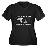 Unclaimed Women's Plus Size V-Neck Dark T-Shirt