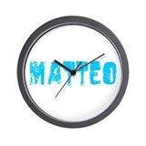 Matteo Faded (Blue) Wall Clock