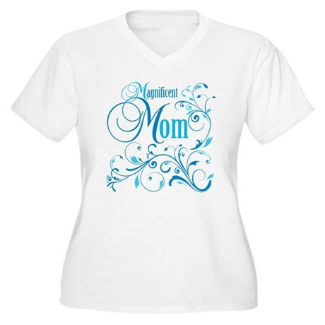 Magnificent Mom Women's Plus Size V-Neck T-Shirt