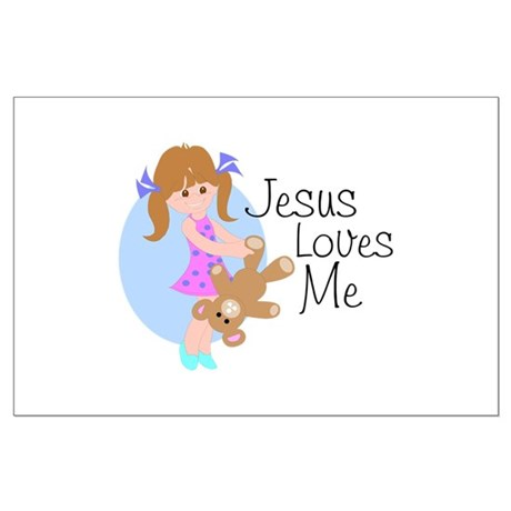 Jesus Loves Me Large Poster