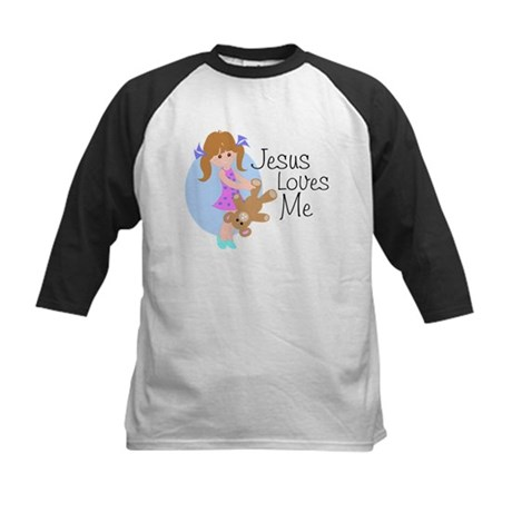 Jesus Loves Me Kids Baseball Jersey