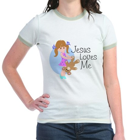 Jesus Loves Me Jr. Ringer T-Shirt