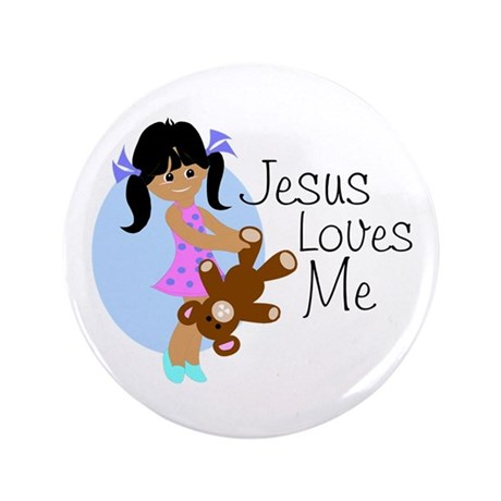 "Jesus Loves Me 3.5"" Button (100 pack)"