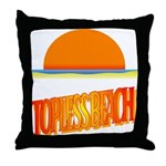 Topless Beach Throw Pillow