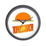 Topless Beach Wall Clock