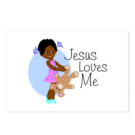Jesus Loves Me Postcards (Package of 8)