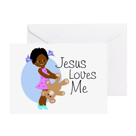 Jesus Loves Me Greeting Card