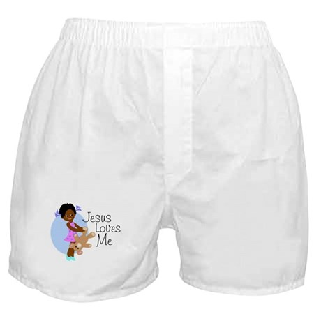 Jesus Loves Me Boxer Shorts