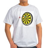 Ash Grey T-Shirt - Darts and board