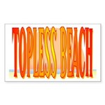 Topless Beach Rectangle Sticker
