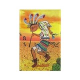 Kokopelli Dance Rectangle Magnet