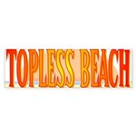 Topless Beach Bumper Sticker