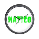 Matteo Faded (Green) Wall Clock