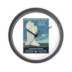 Yellowstone National Park Wall Clock