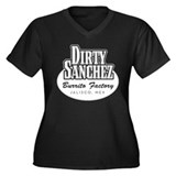 Dirty Sanchez Burrito Factory Women's Plus Size V-