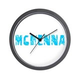 Mckenna Faded (Blue) Wall Clock