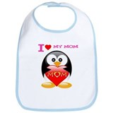 I love my mom tux Bib